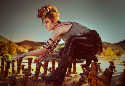 Model, artist, dancer and hoop trickster Xine Zanillo poses for Dr Sketchy's San Diego September session, Sat Sept 20, 2014