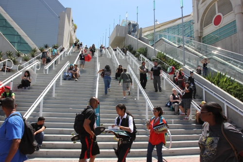 Convention Center steps - during Comic Con
